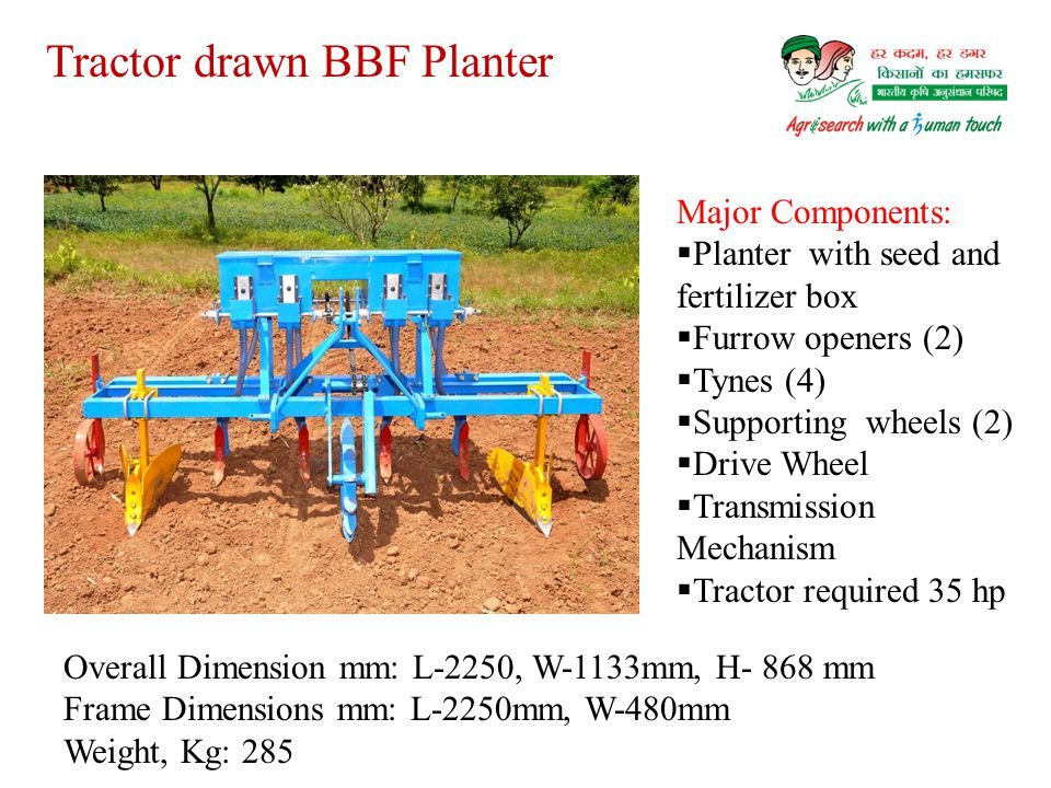 Tractor drawn BBF Planter