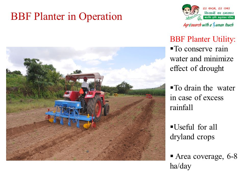 BBF Planter in Operation