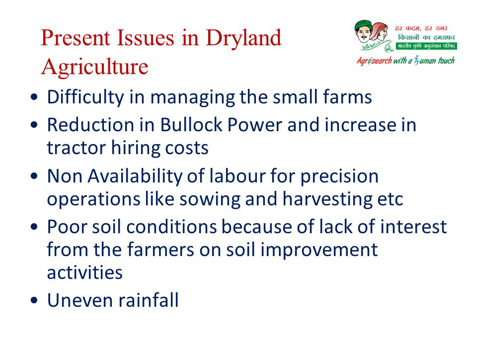 Present Issues in Dryland Agriculture
