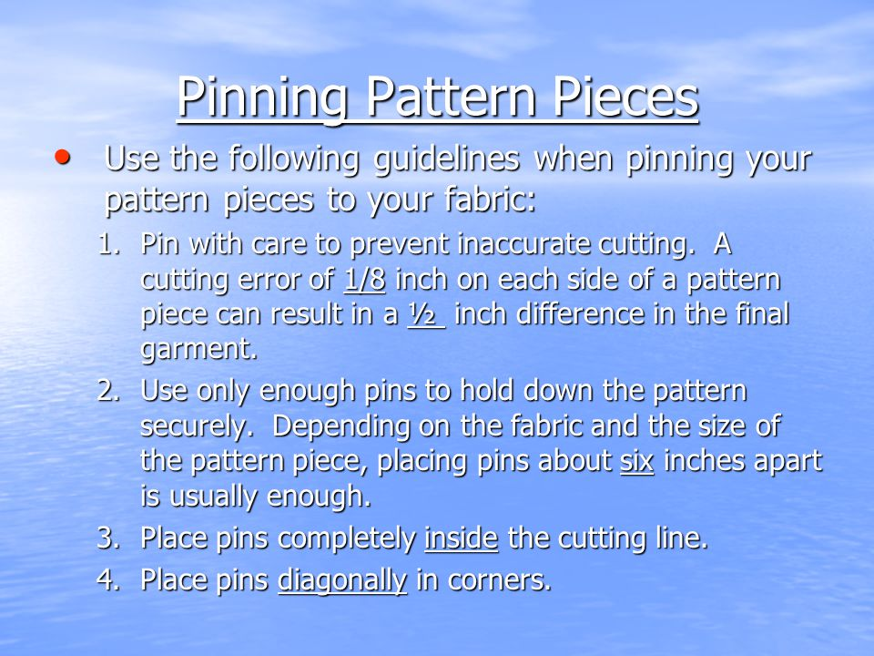 Pinning Pattern Pieces