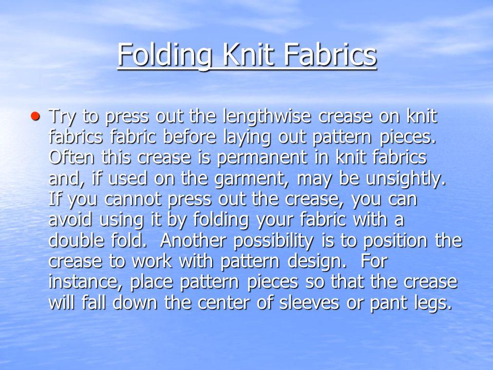 Folding Knit Fabrics