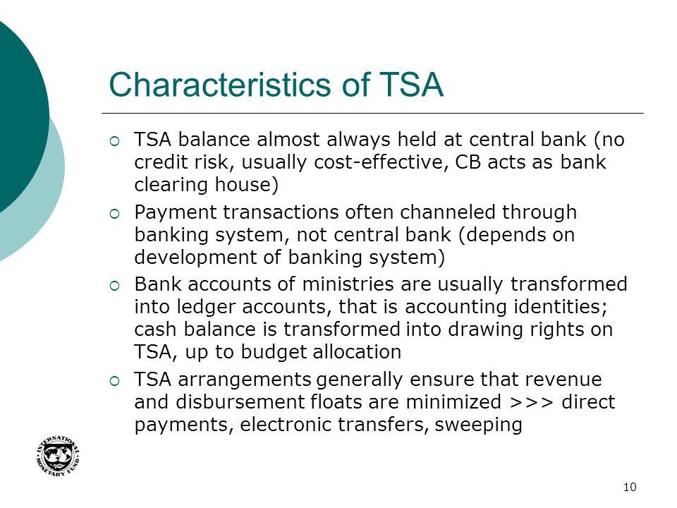 Characteristics of TSA