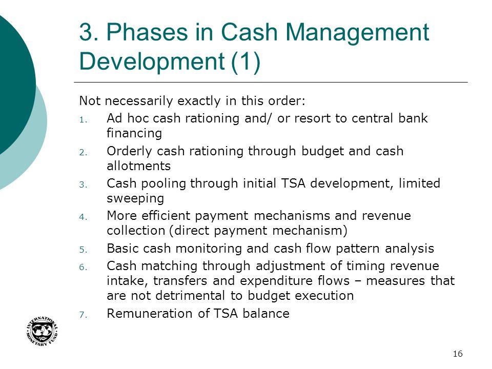3. Phases in Cash Management Development (1)