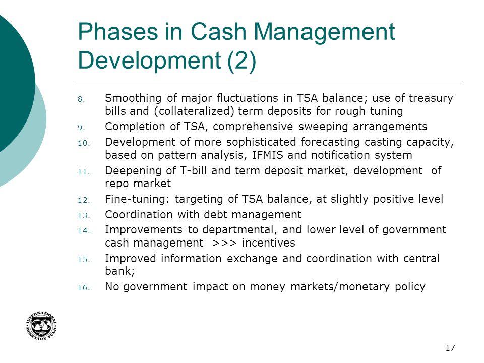 Phases in Cash Management Development (2)