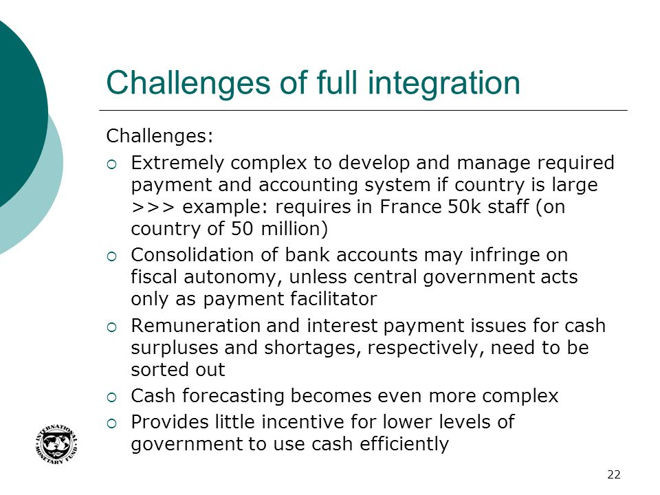 Challenges of full integration