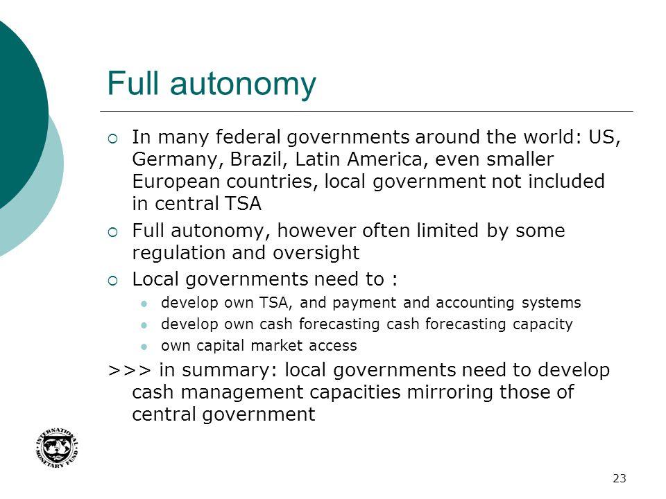 Full autonomy