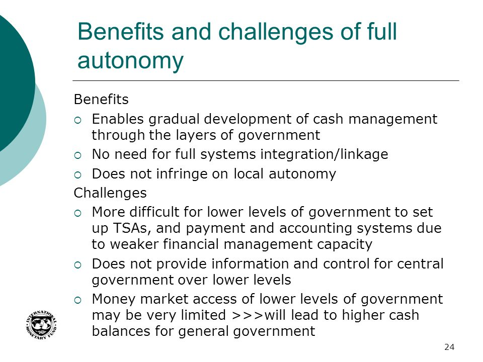 Benefits and challenges of full autonomy