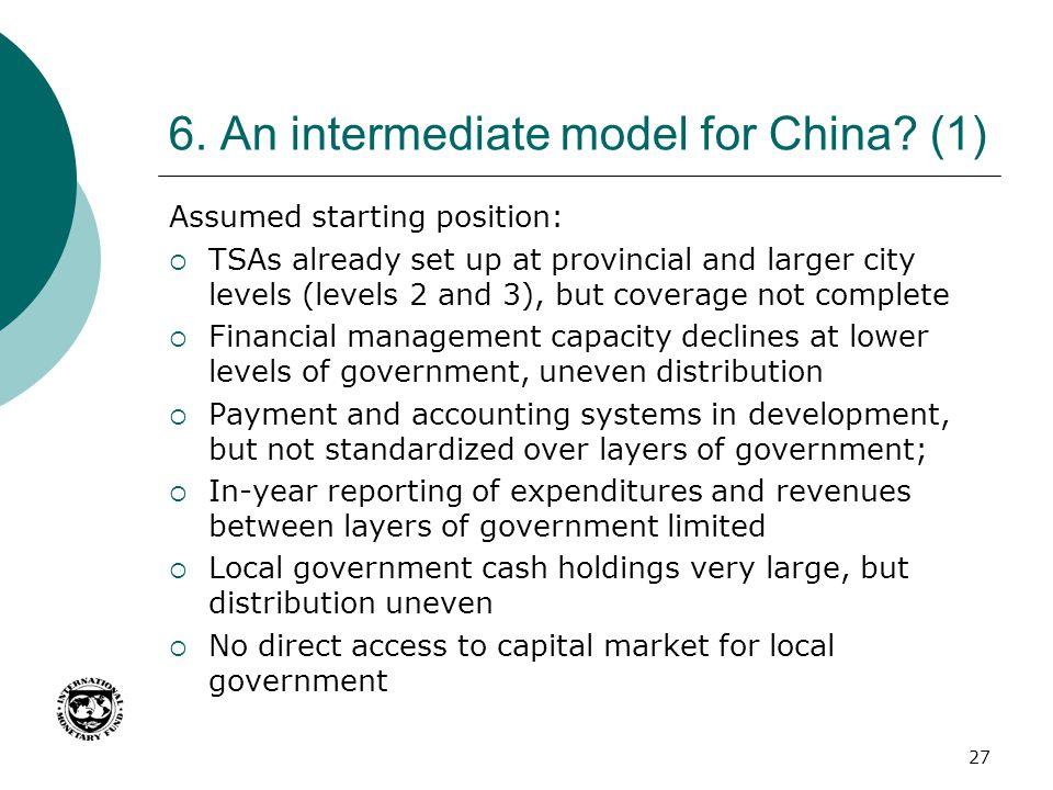 6. An intermediate model for China (1)