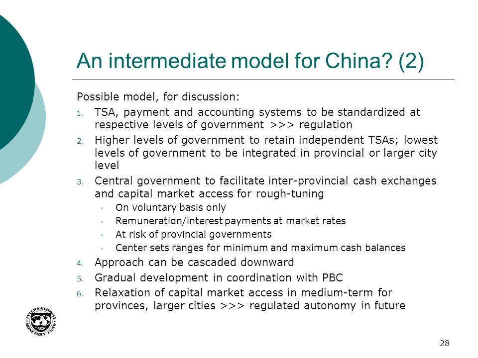 An intermediate model for China (2)