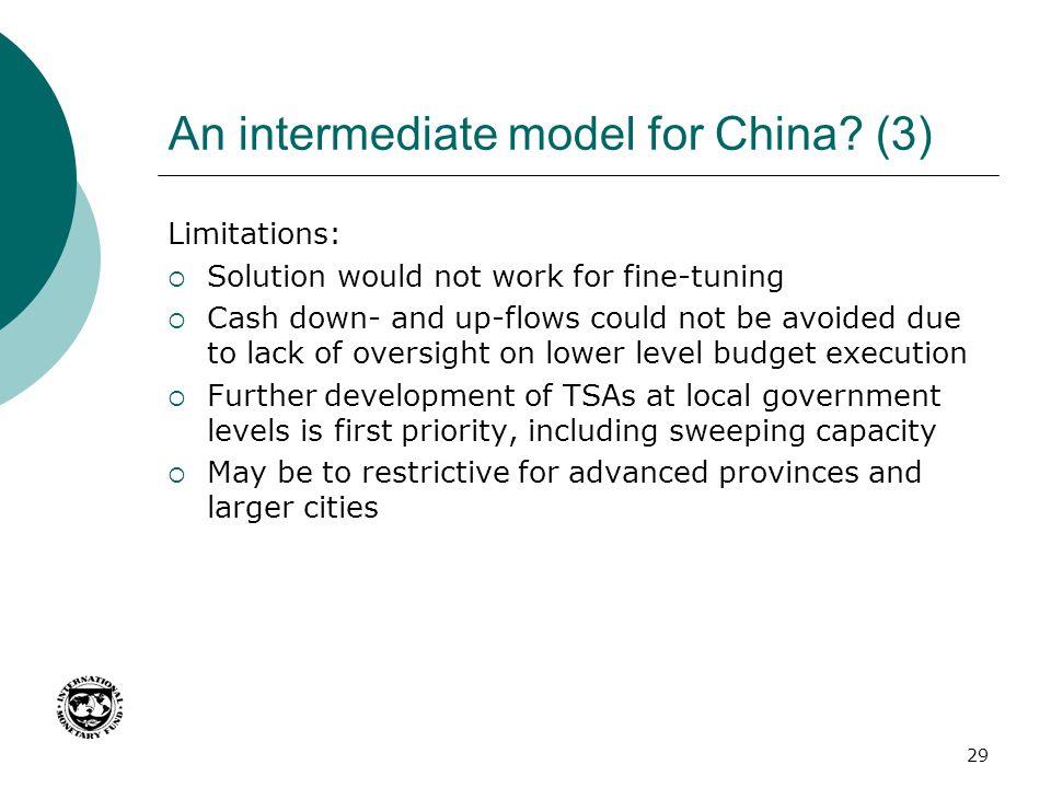 An intermediate model for China (3)