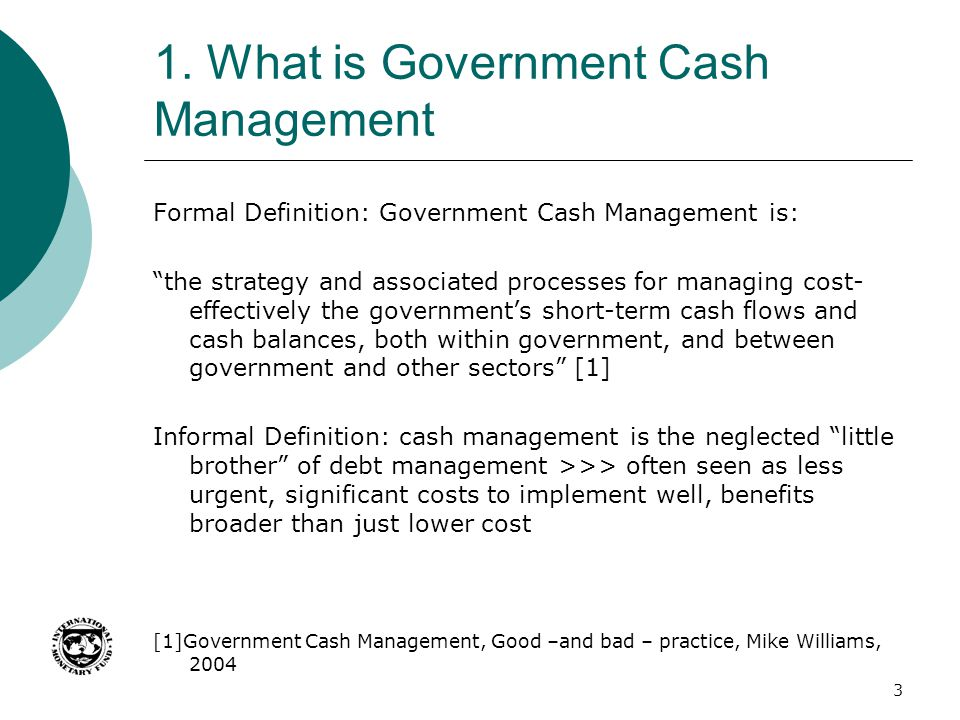1. What is Government Cash Management