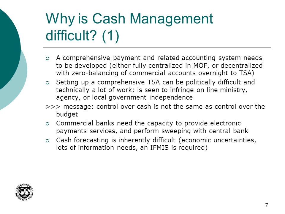 Why is Cash Management difficult (1)