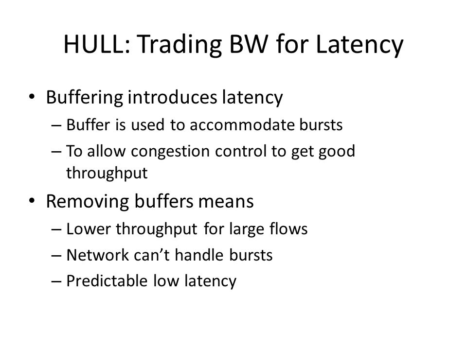 HULL: Trading BW for Latency