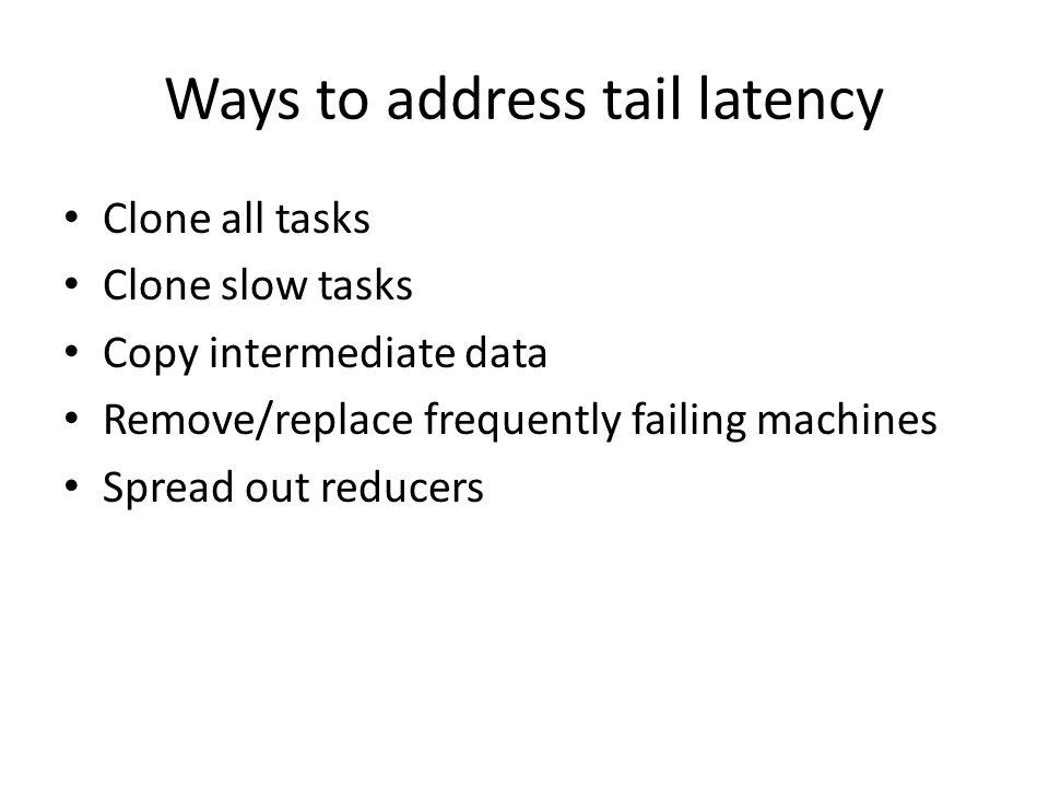 Ways to address tail latency