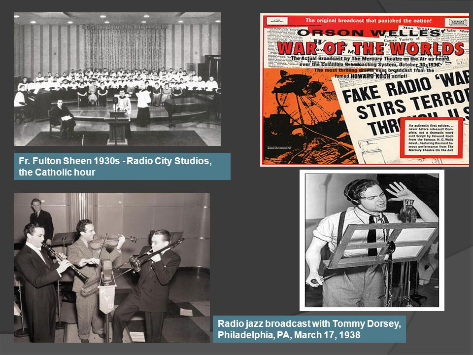 Fr. Fulton Sheen 1930s - Radio City Studios, the Catholic hour