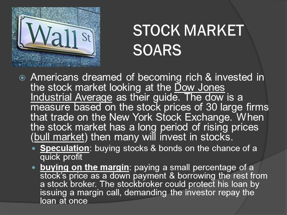 STOCK MARKET SOARS
