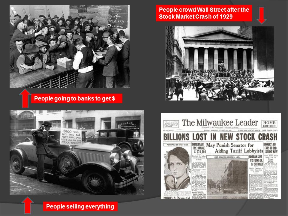 People crowd Wall Street after the Stock Market Crash of 1929