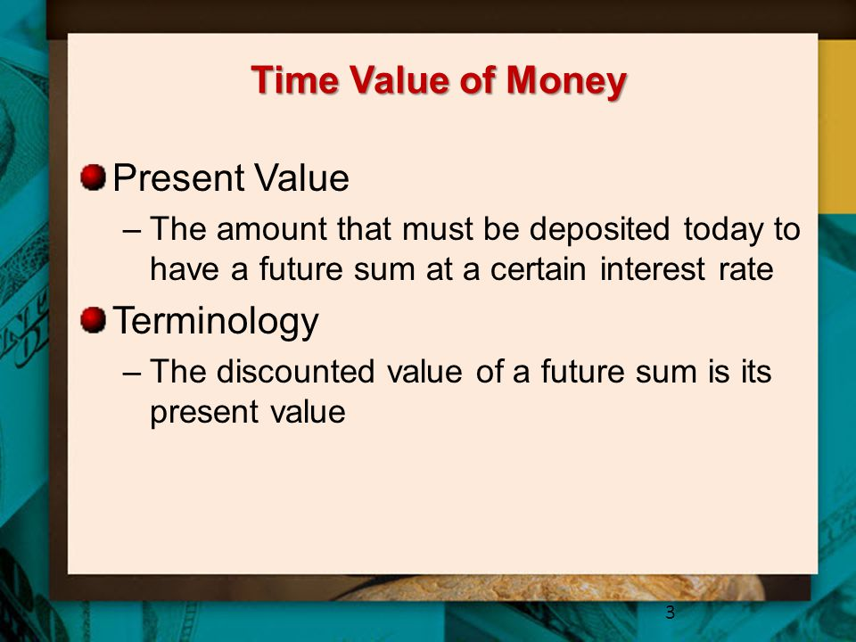 Time Value of Money Present Value Terminology