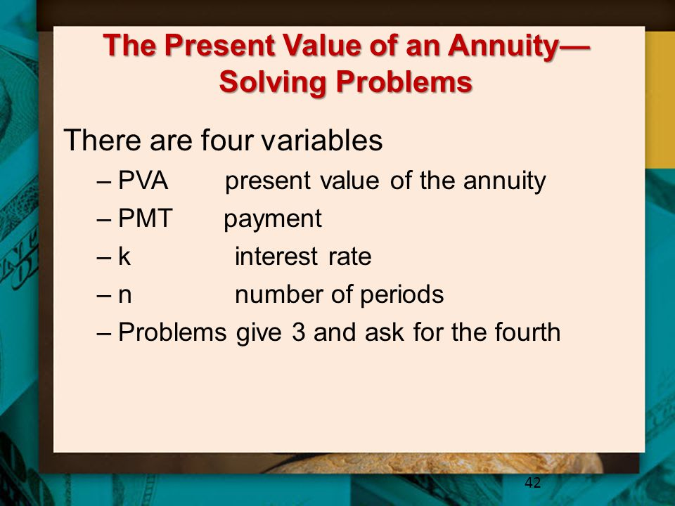 The Present Value of an Annuity—Solving Problems