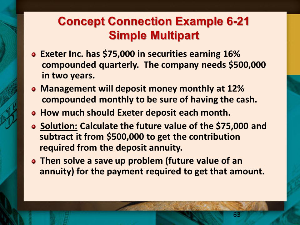 Concept Connection Example 6-21 Simple Multipart