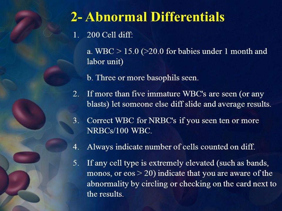 2- Abnormal Differentials