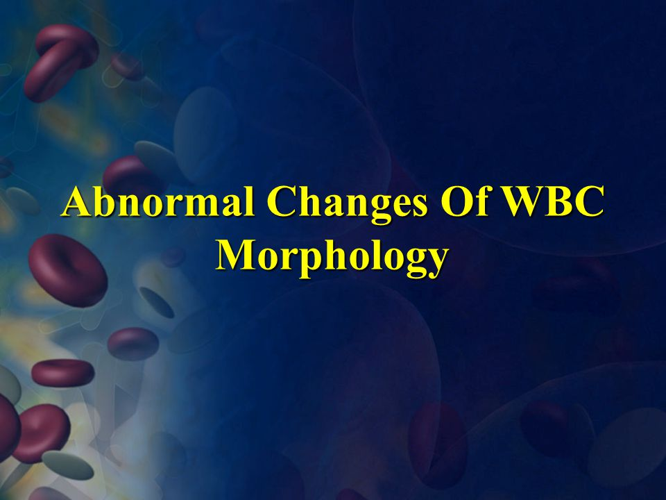 Abnormal Changes Of WBC Morphology