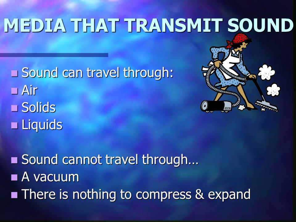 MEDIA THAT TRANSMIT SOUND