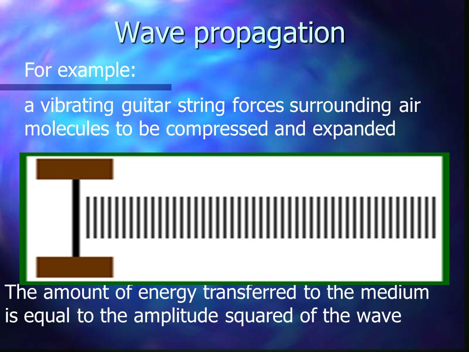 Wave propagation For example:
