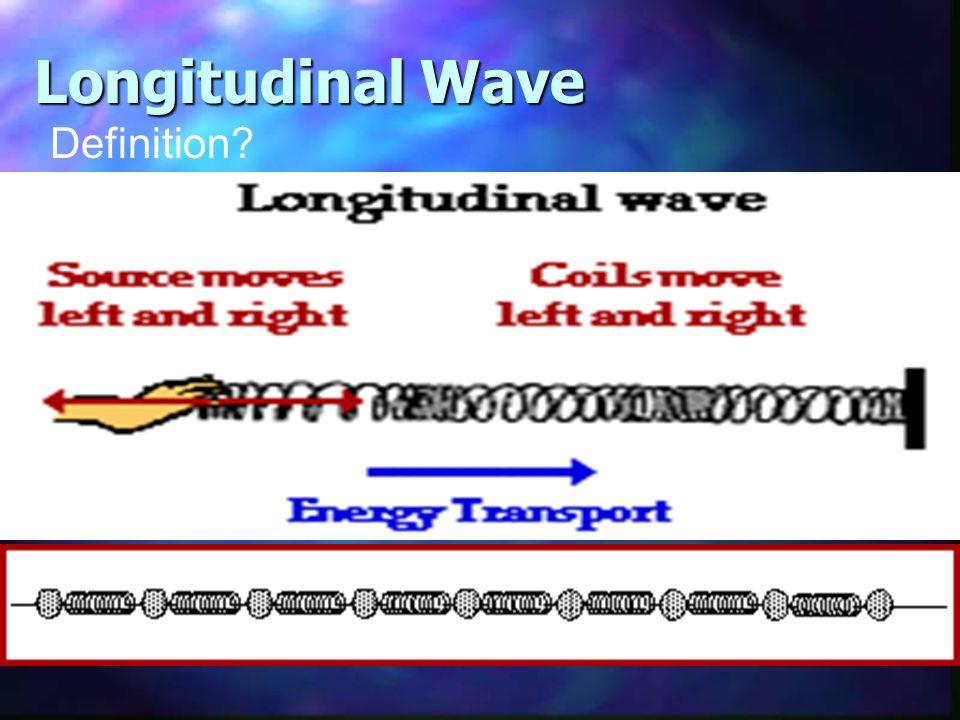 Longitudinal Wave Definition