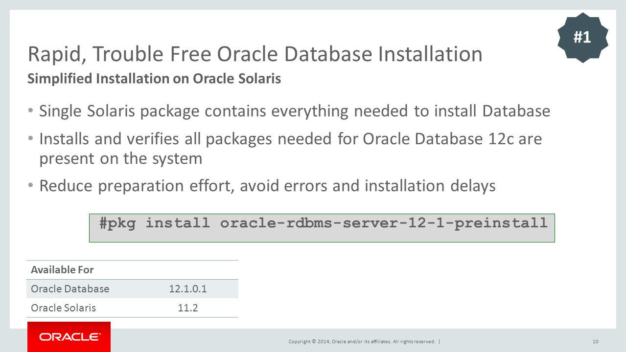 Rapid, Trouble Free Oracle Database Installation