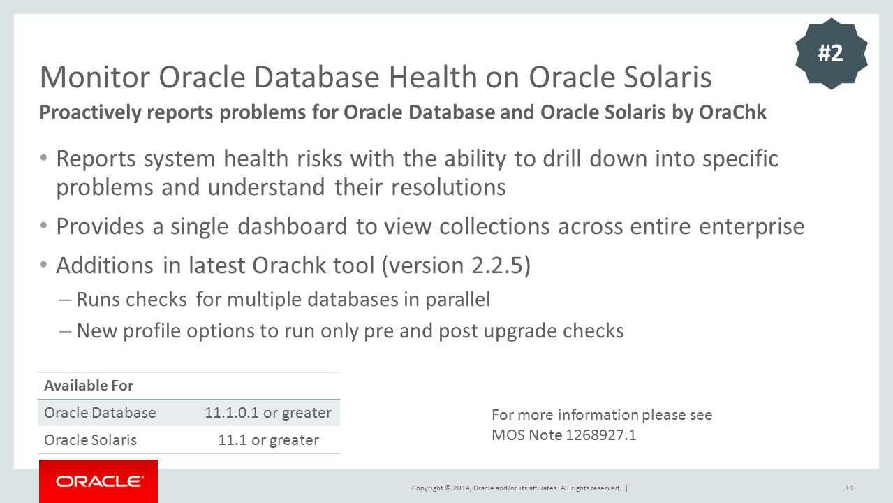 Monitor Oracle Database Health on Oracle Solaris