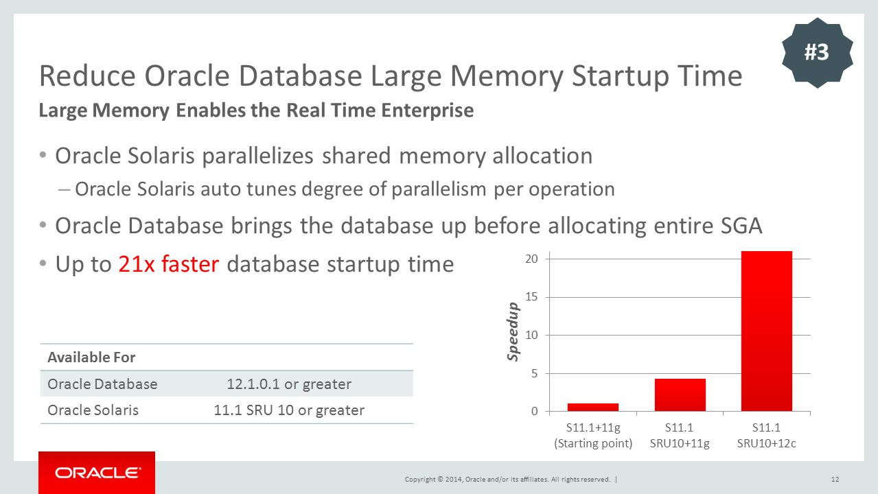 Reduce Oracle Database Large Memory Startup Time