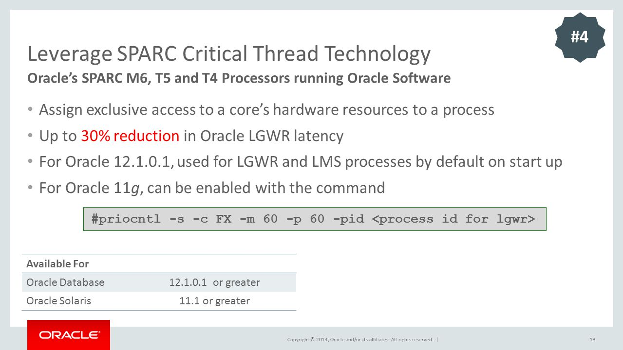 Leverage SPARC Critical Thread Technology