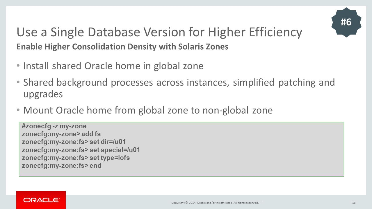 Use a Single Database Version for Higher Efficiency