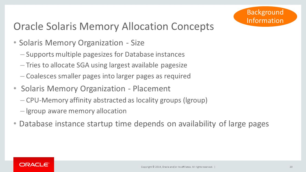 Oracle Solaris Memory Allocation Concepts