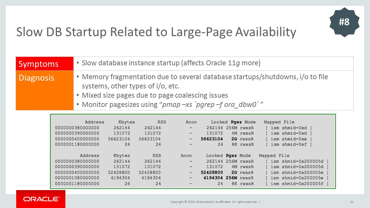 Slow DB Startup Related to Large-Page Availability