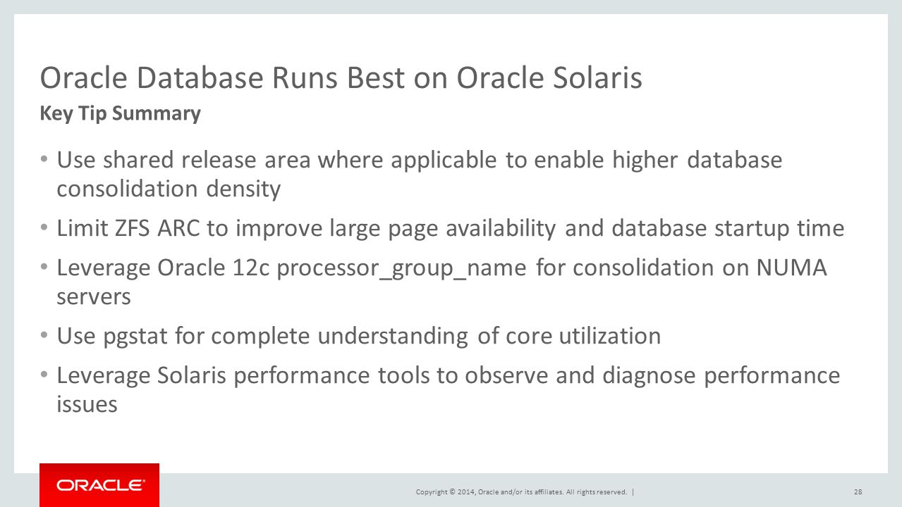 Oracle Database Runs Best on Oracle Solaris