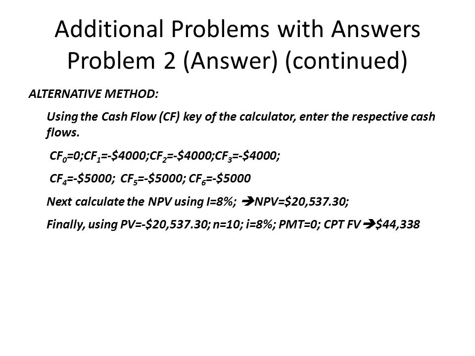 Additional Problems with Answers Problem 2 (Answer) (continued)