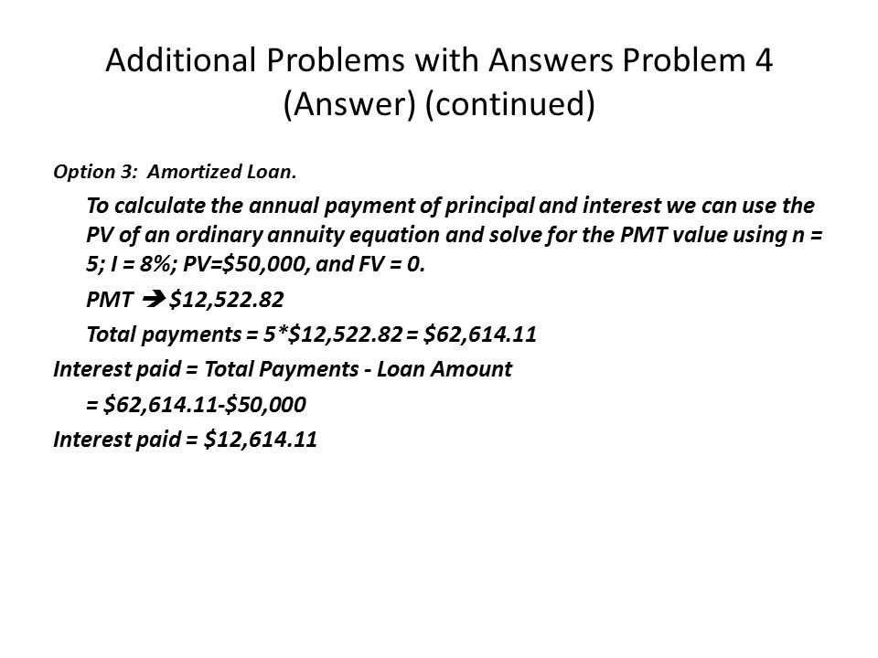 Additional Problems with Answers Problem 4 (Answer) (continued)