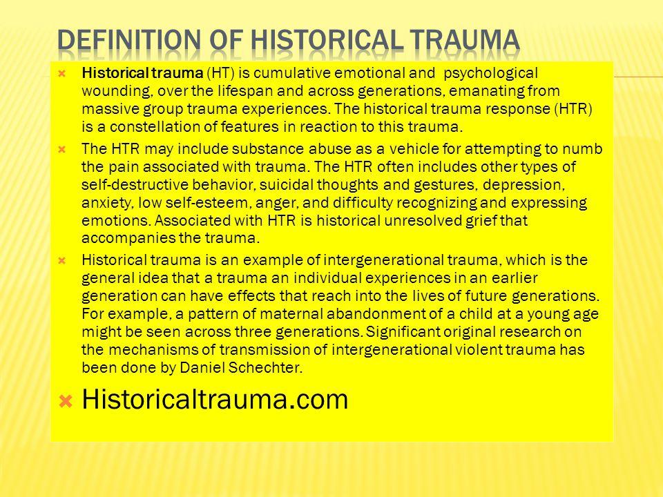 Definition of Historical Trauma