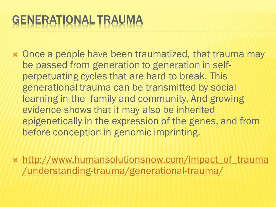 Generational Trauma