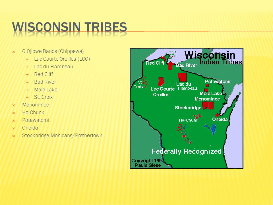 Wisconsin Tribes 6 Ojibwe Bands (Chippewa) Lac Courte Oreilles (LCO)