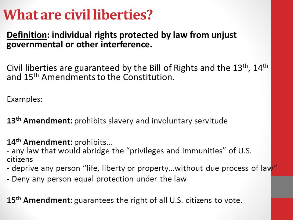 What are civil liberties