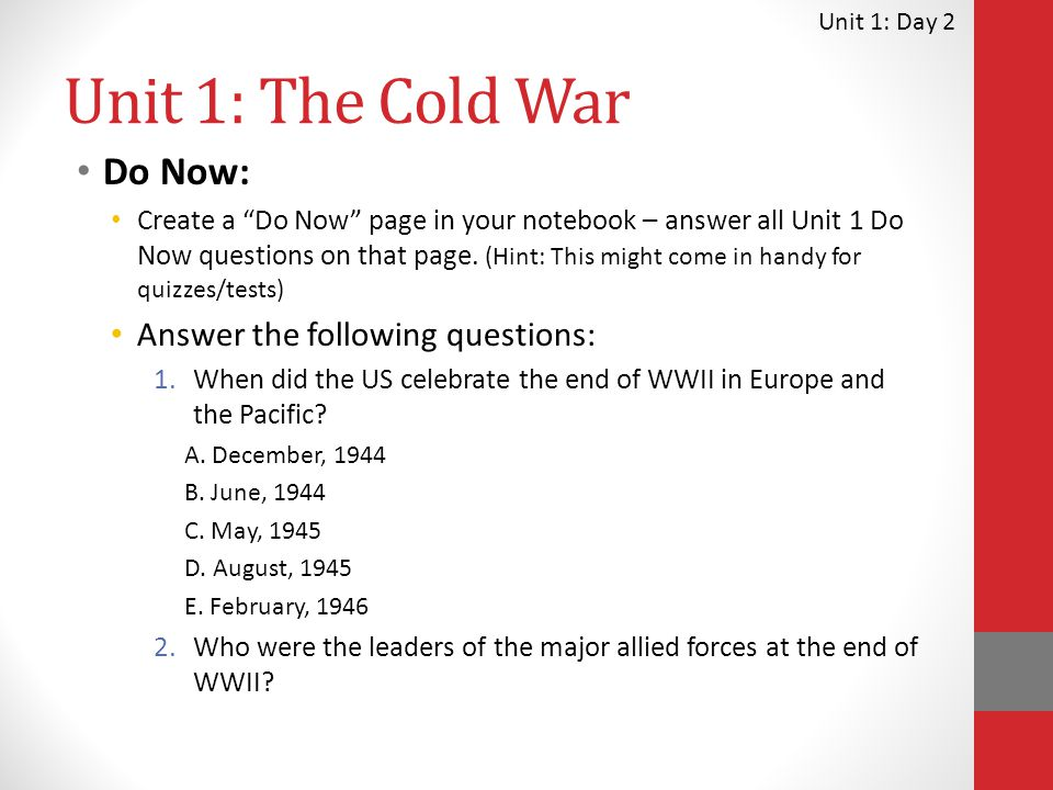 13 days and the cold war essay In 1991, the soviet union collapsed and america won the cold war we did not  understand at the time how much winning the war would change us  13 study:  more kids consider suicide or self-harm may 21 at 7:30 am  our days as a  hyperpower are probably lost to us forever — we ourselves.
