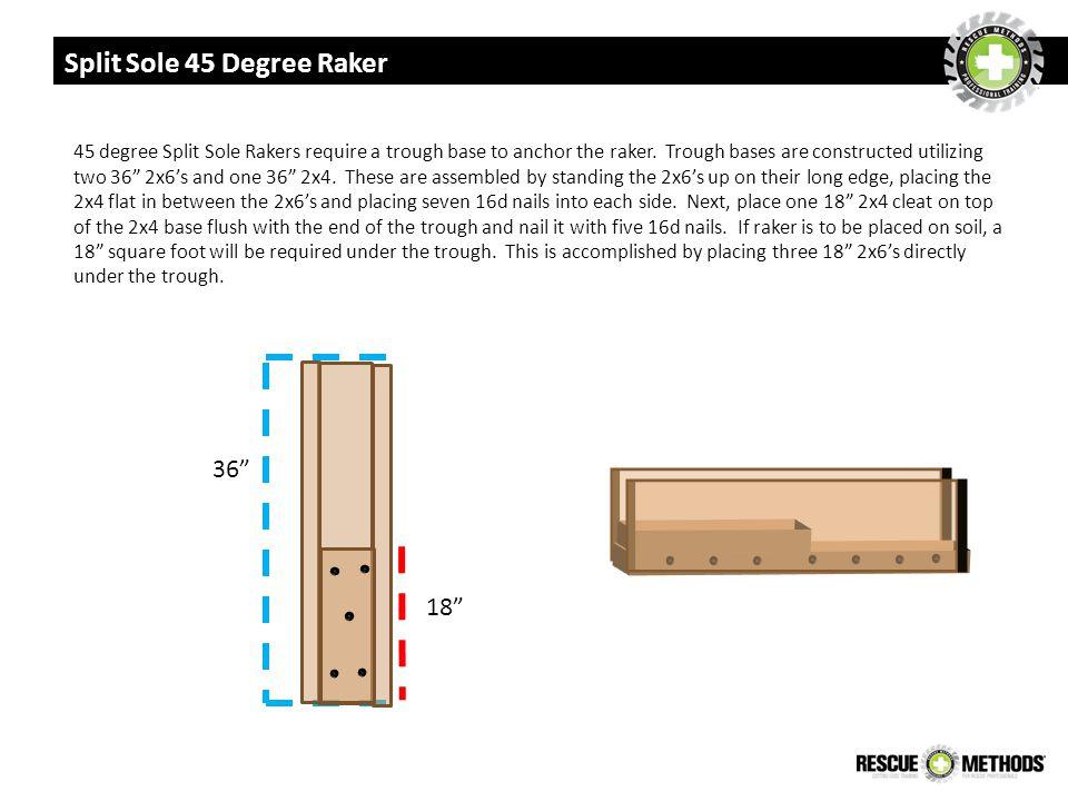 Split Sole 45 Degree Raker