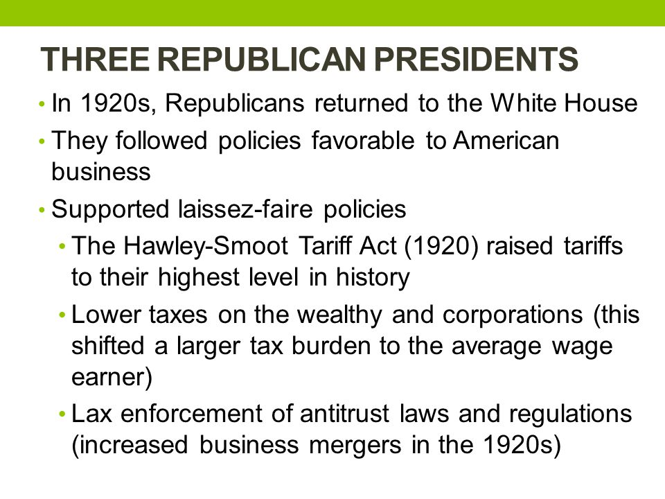 THREE REPUBLICAN PRESIDENTS