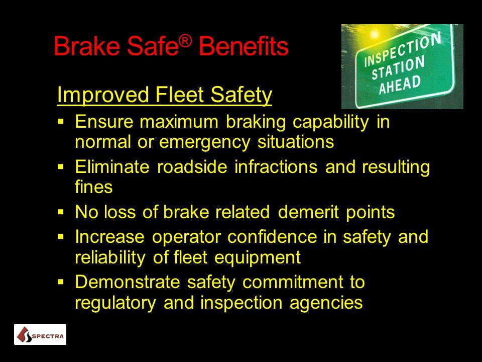 Brake Safe® Benefits Improved Fleet Safety