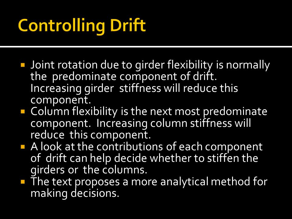 Controlling Drift