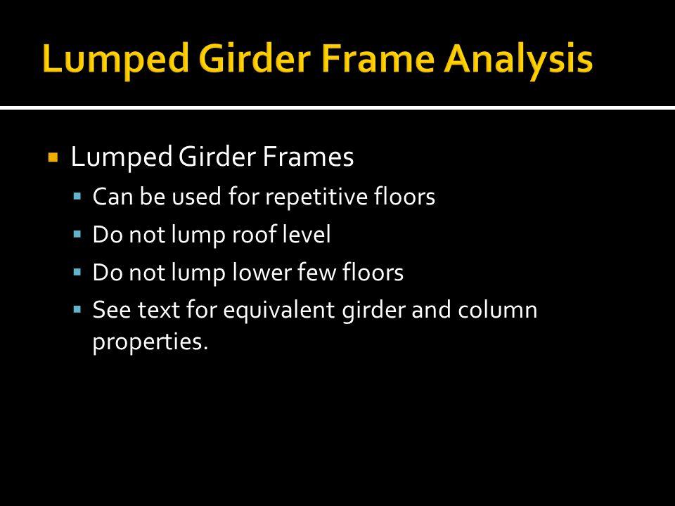Lumped Girder Frame Analysis