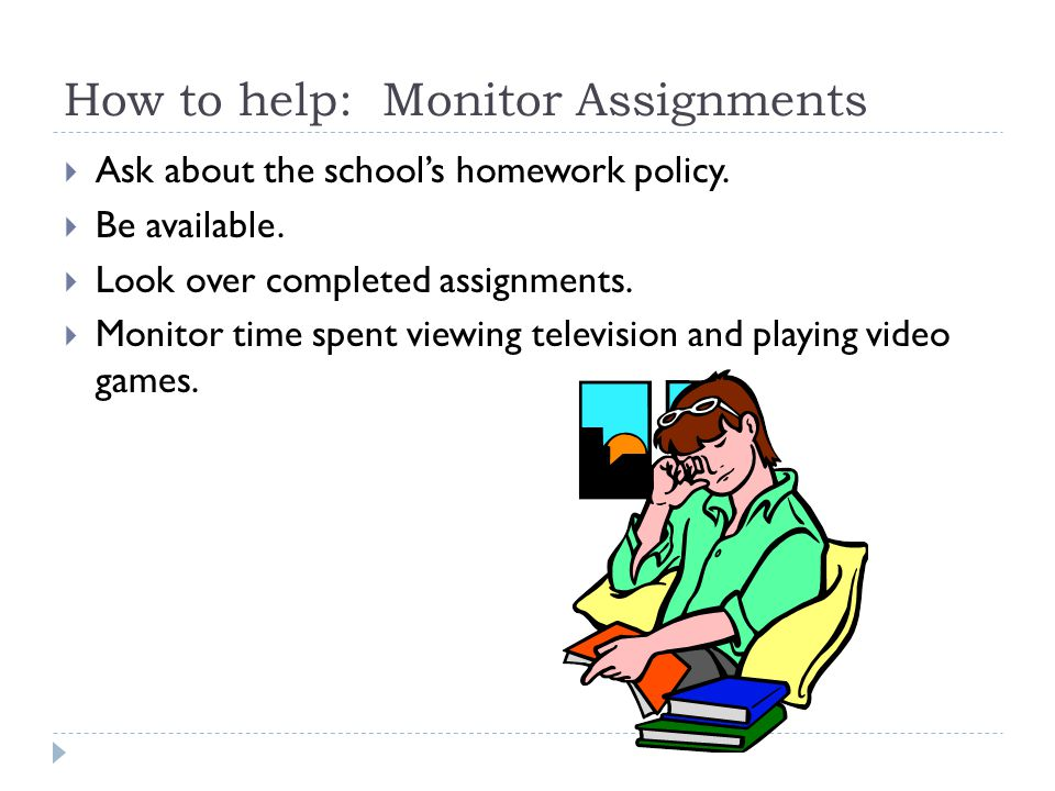 How to help: Monitor Assignments